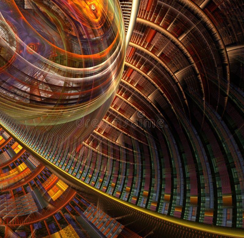 multiple de désordre de dimensionnalité illustration de vecteur