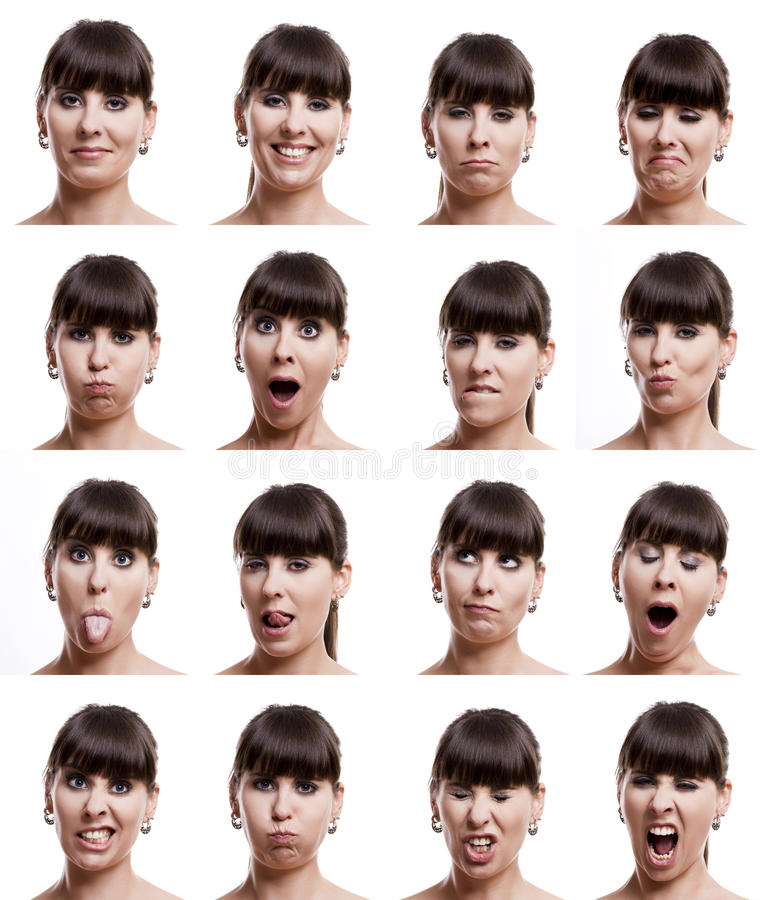 Download Multiple expressions stock image. Image of adult, face - 19368899