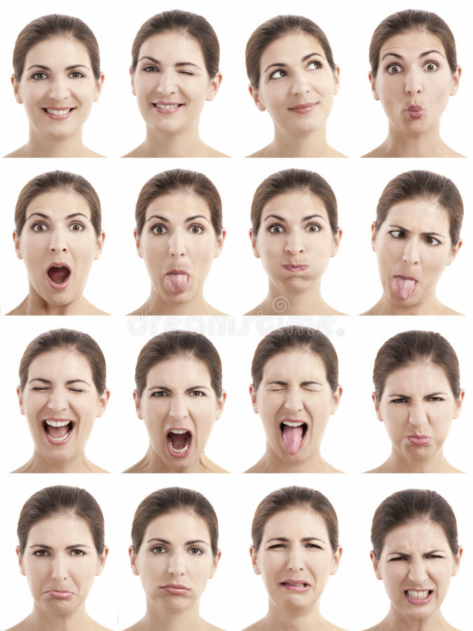 Download Multiple faces expressions stock photo. Image of individuality - 23788296
