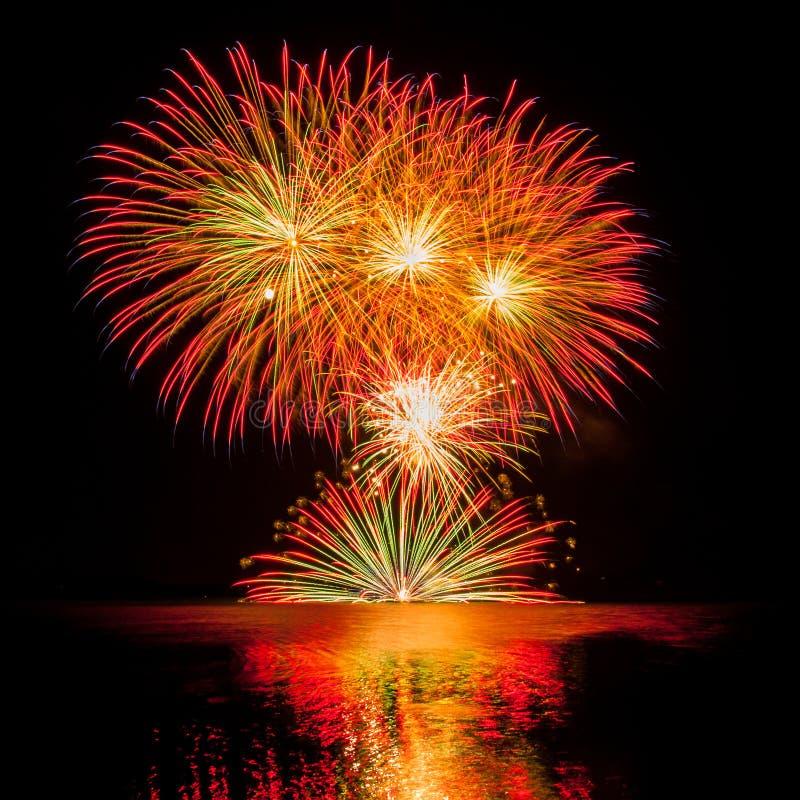 Multiple fireworks stock images