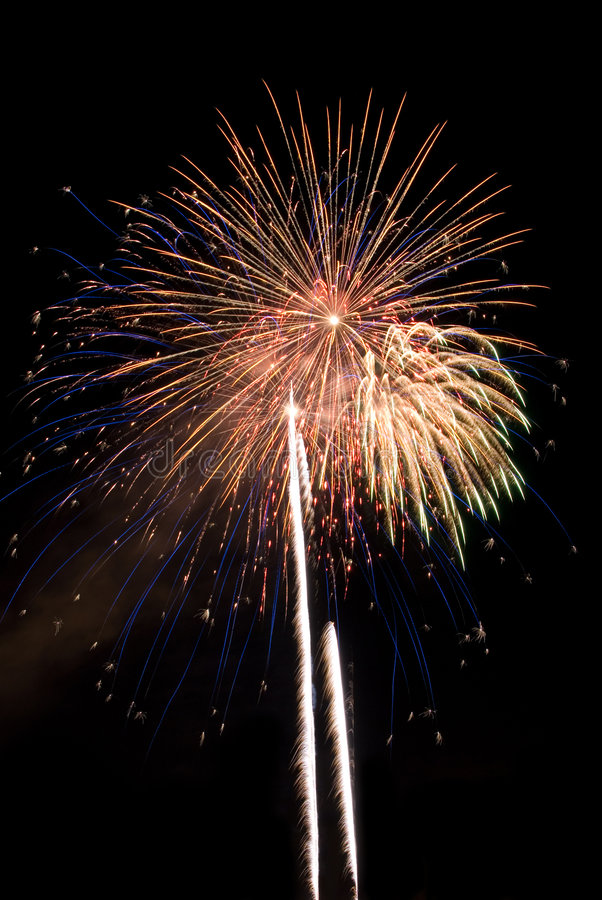 Download Multiple Fireworks Burst stock photo. Image of celebration - 6080630