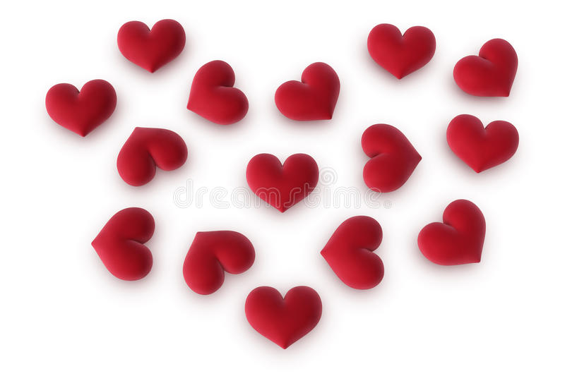 Multiple Hearts Forming A Heart Royalty Free Stock Photo