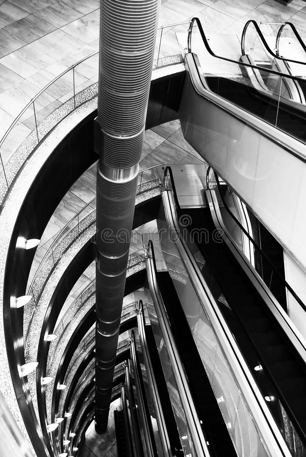 Download Multiple Levles Of Escalators Stock Photo - Image: 16087964