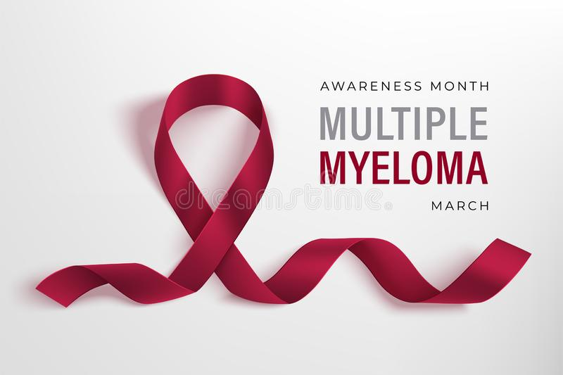Multiple Myeloma Awareness banner. Healthcare vector design royalty free stock photos