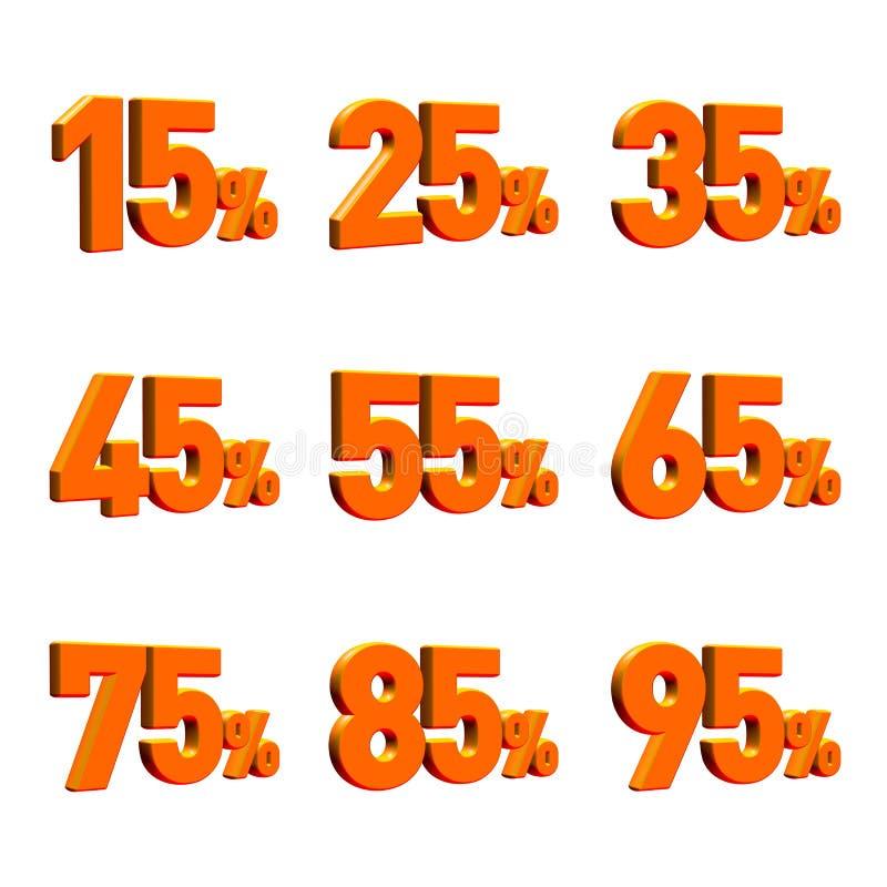 Download Multiple Percentage 3D Render Stock Illustration - Image: 18896017