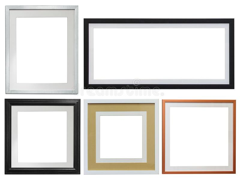 Multiple Picture frames to add your own photos royalty free stock photo