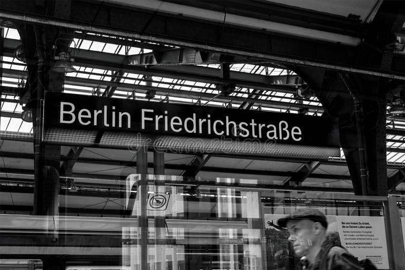 Berlin Friedrichstraße 01 - Berlin 07 2018 stock photos