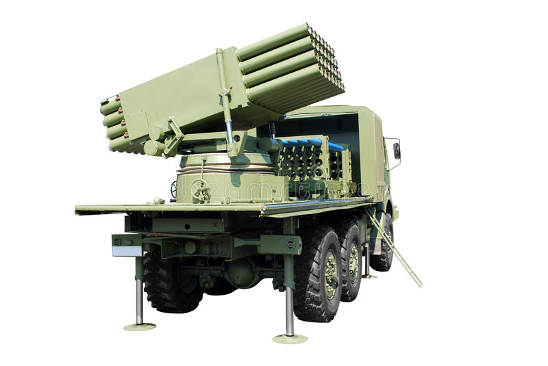 Multiple rocket launcher stock images