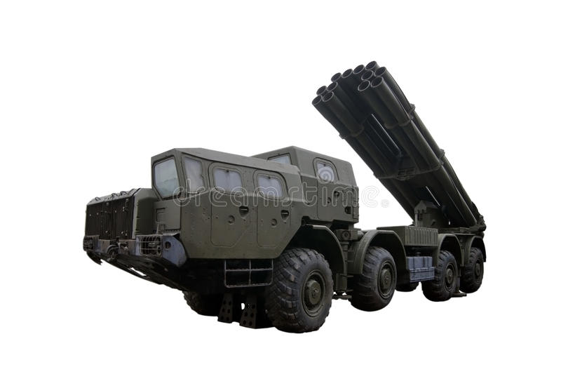 Multiple Rocket Launcher in Raised Position stock photos