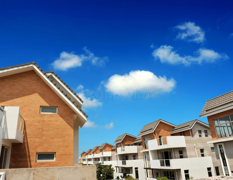 Multiple roof lines stock photos