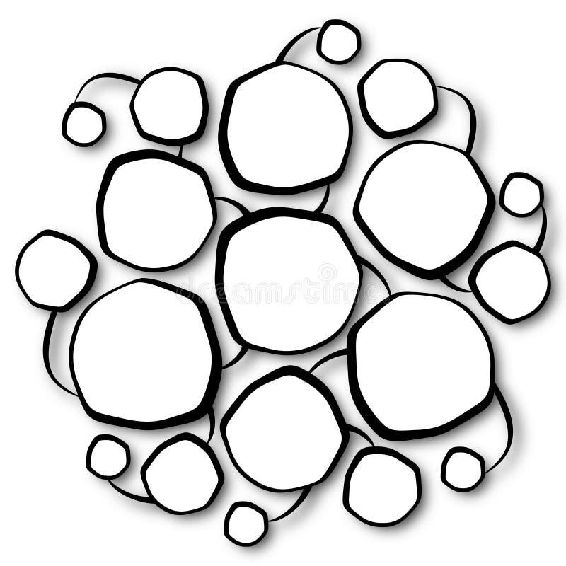 Multiple rounded frames linked together royalty free illustration