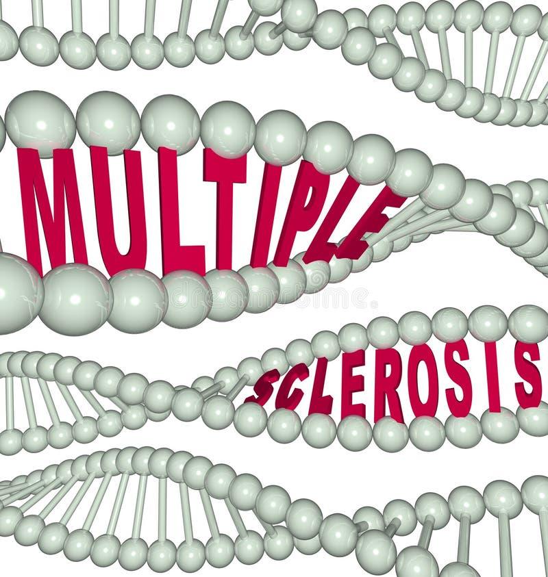 Multiple Sclerosis in DNA Strand vector illustration