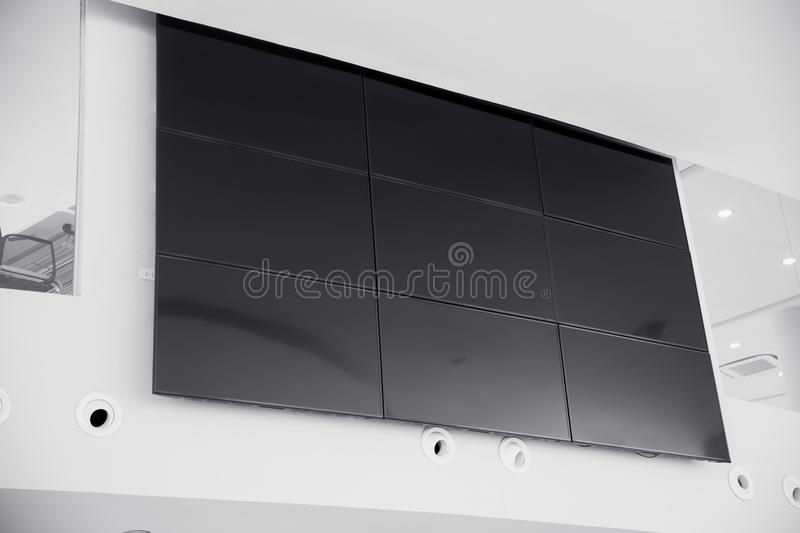 Multiple screen LCD panel display royalty free stock photos