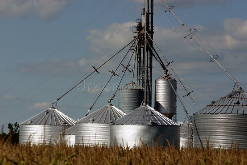 Multiple silos stock photos