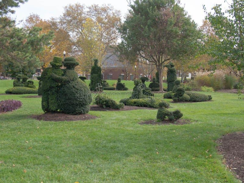 Multiple Topiary Figurines stock image