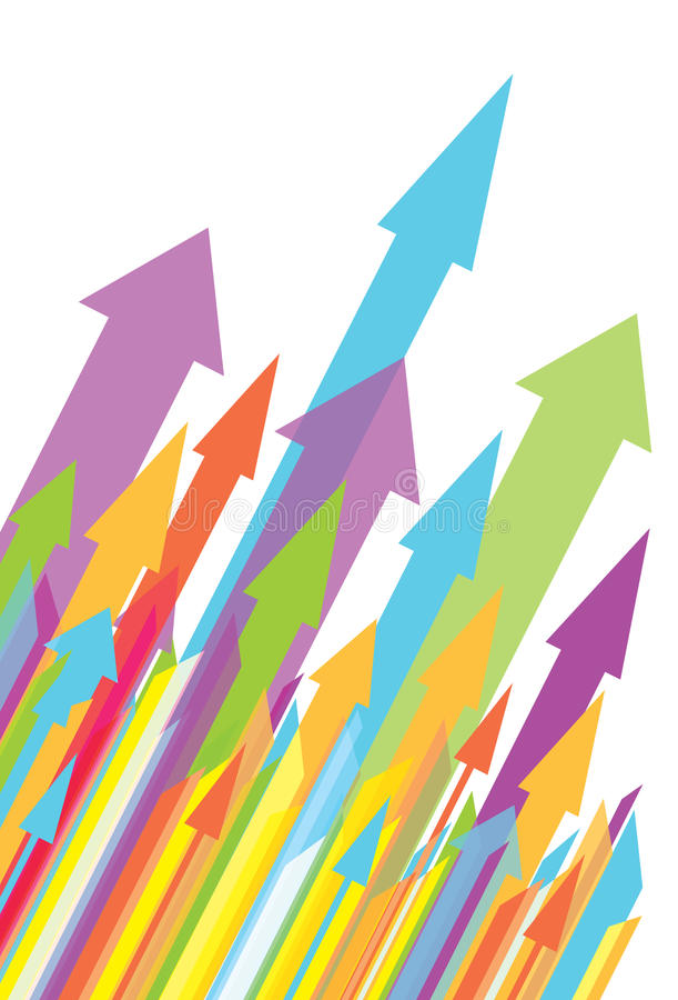 Multiple Unidrectional Arrows Stock Photo