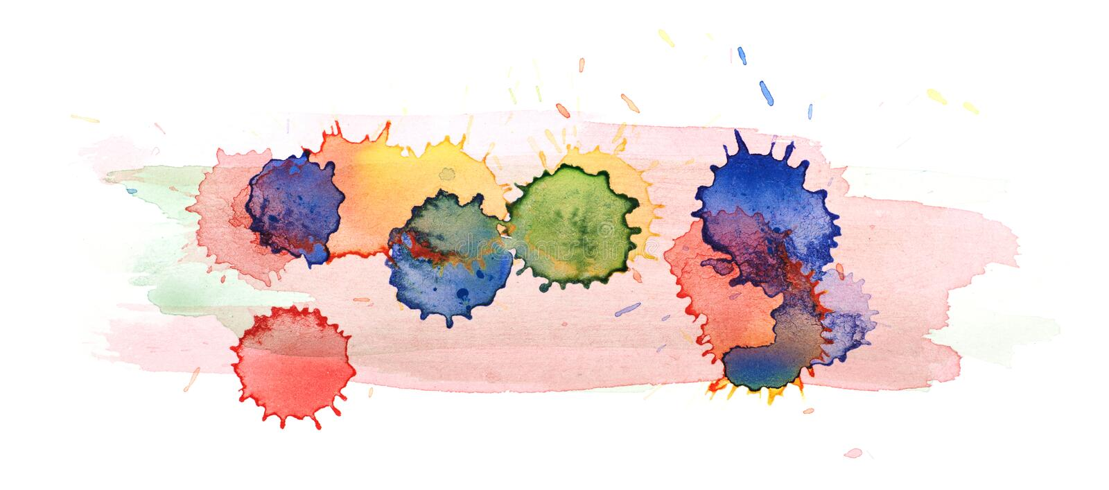 Watercolor drop stain isolated royalty free illustration