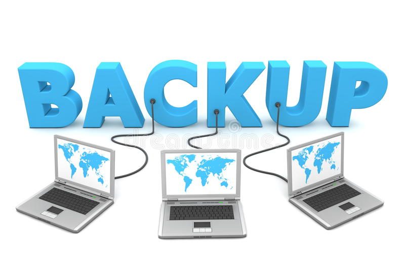 Download Multiple Wired to Backup stock illustration. Image of digital - 10007666