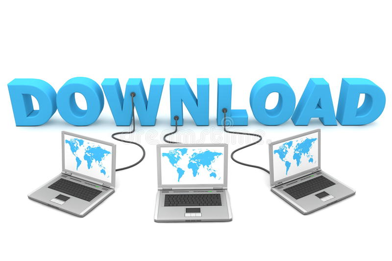 Download Multiple Wired to Download stock illustration. Illustration of file - 9614044