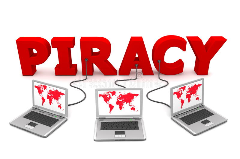 Download Multiple Wired To Red Piracy Stock Illustration - Illustration of hacker, download: 10244666