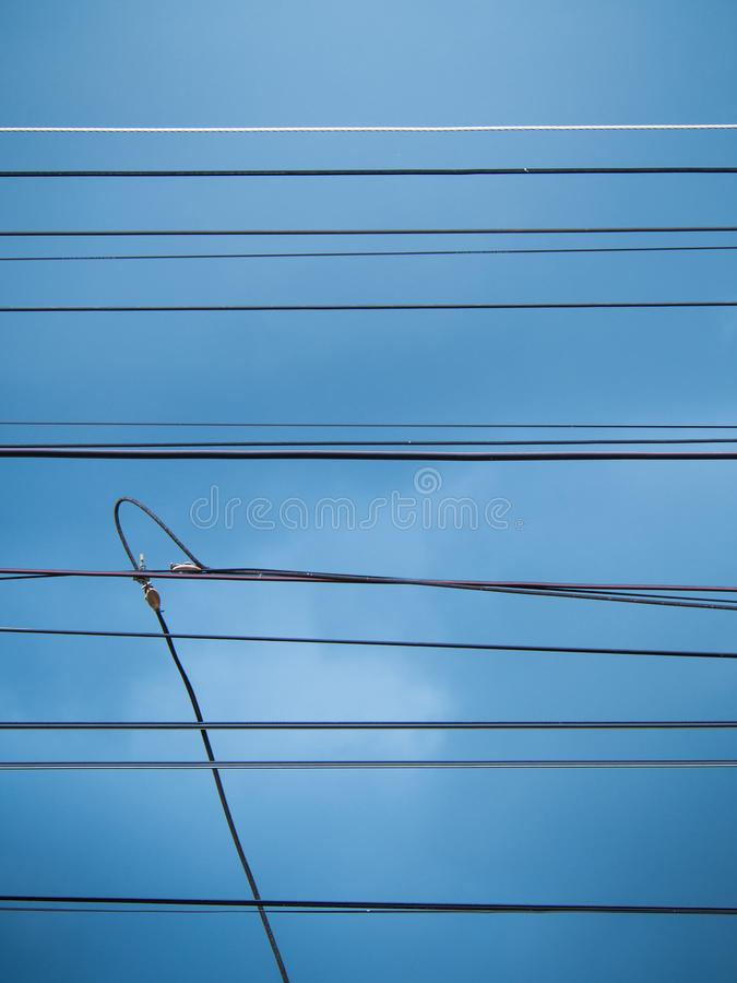 Multiple Wires Are Parallel Lines Stock Photo - Image of industry ...