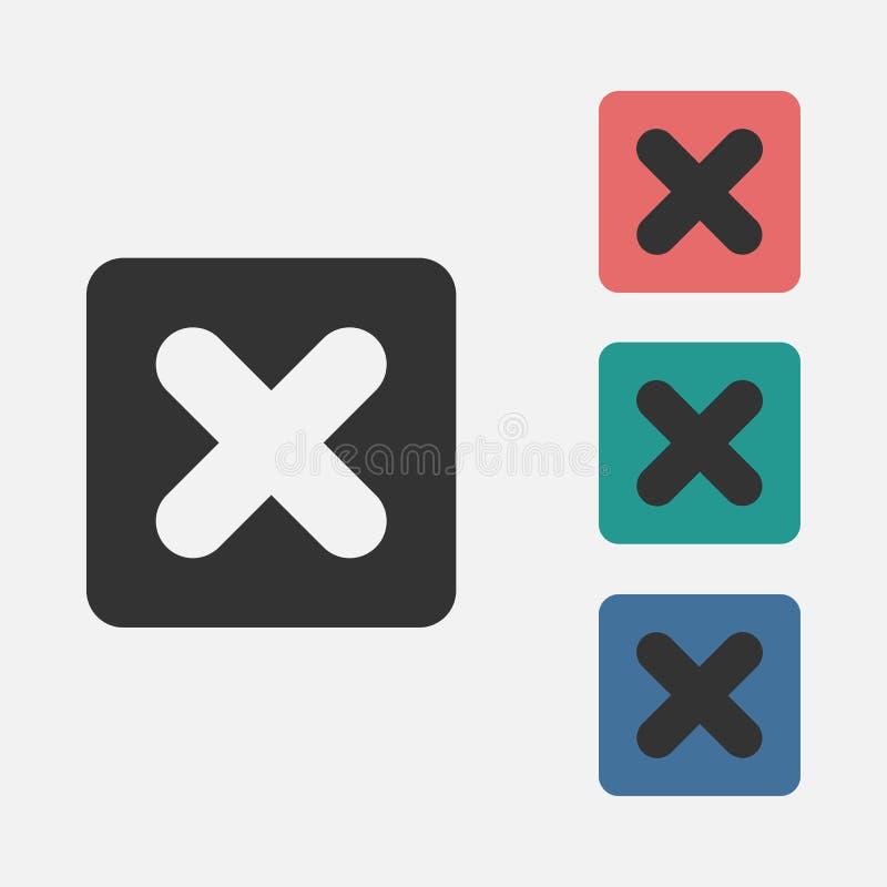 Multiplique o ícone do sinal, aumente-o, calcule-o, matemática ilustração stock