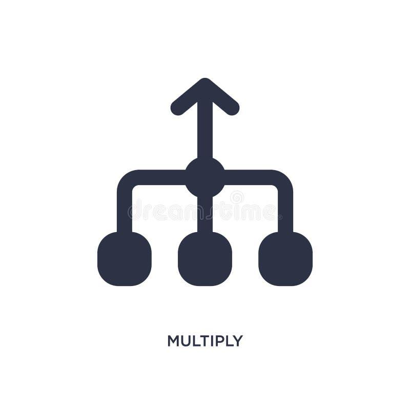 multiplique o ícone no fundo branco Ilustração simples do elemento do conceito das setas 2 ilustração royalty free