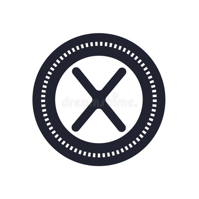 Multiplique o sinal do vetor do ícone e o símbolo isolado no fundo branco, multiplica o conceito do logotipo ilustração royalty free