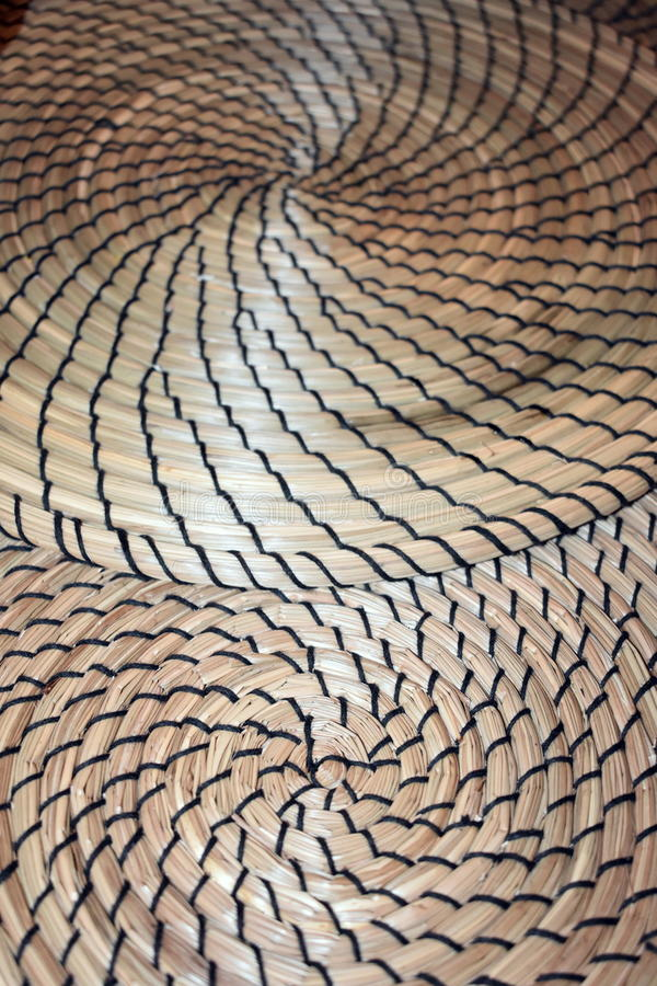 Multiplo di Fibonacci che contrappone le stuoie a spirale formate dell'erba asciutta immagine stock