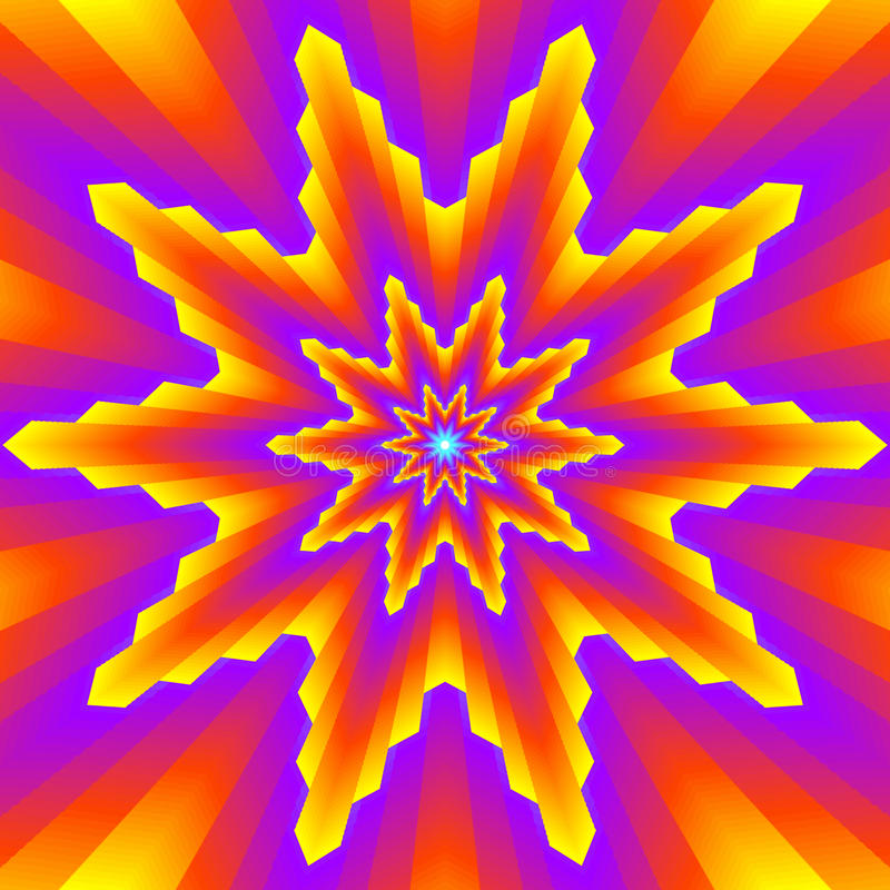 Multipointed-Sterne vektor abbildung