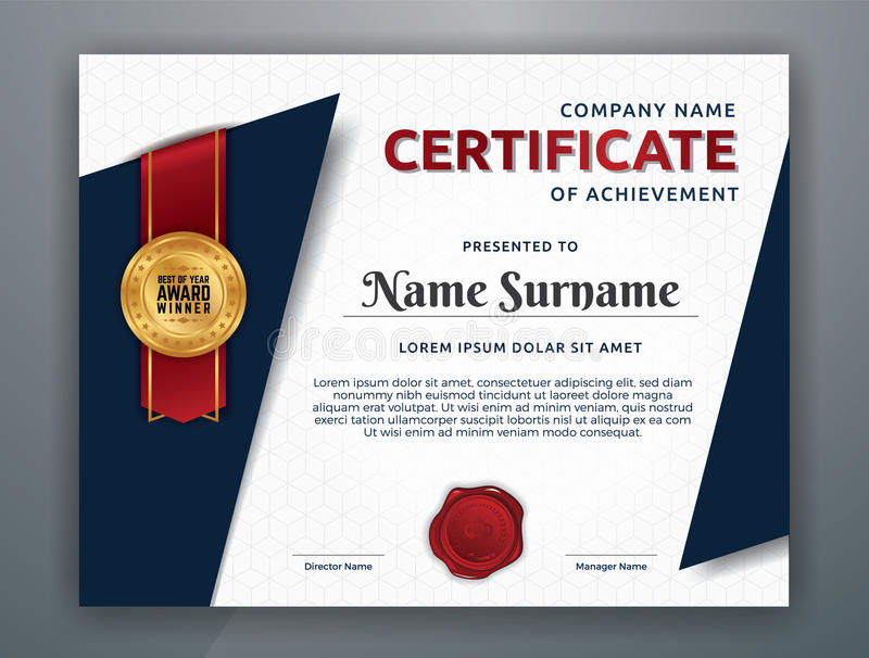 Multipurpose modern professional certificate template stock vector download multipurpose modern professional certificate template stock vector illustration of horizontal modern 94120944 yadclub Gallery