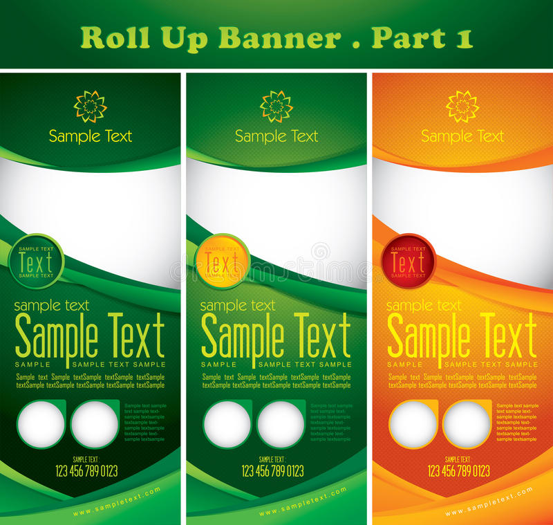 Multipurpose roll up banner royalty free illustration