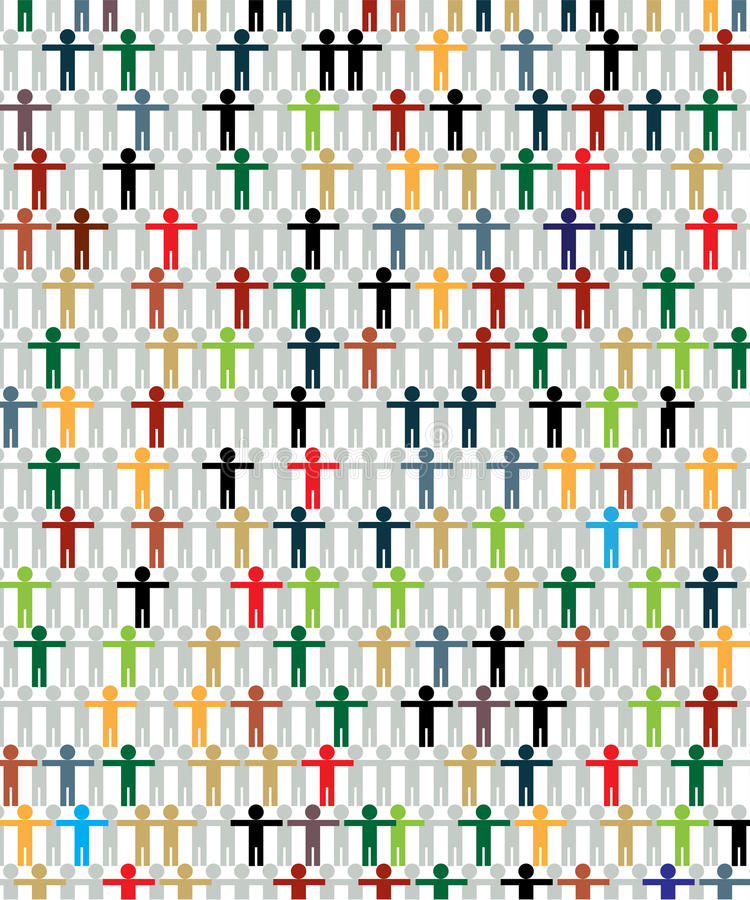 Multiraciaal grafisch concept vector illustratie