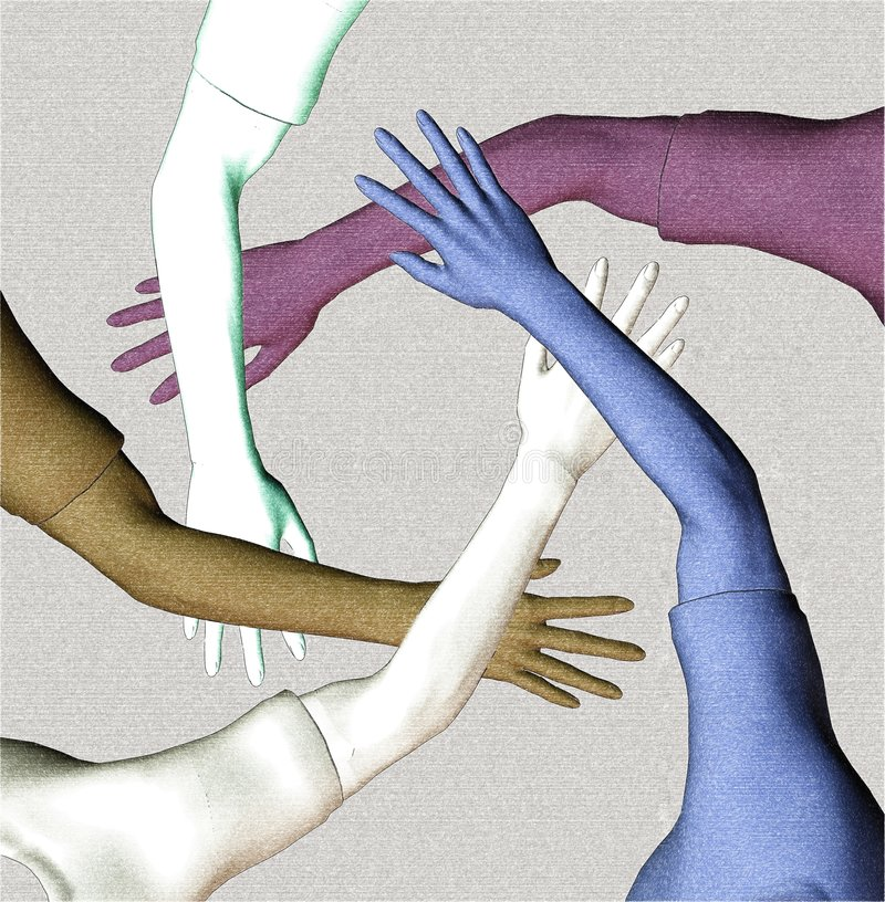 Multiraciaal Team stock illustratie