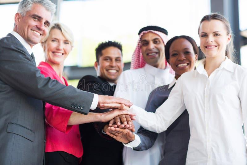 Multiracial biznes drużyna obraz royalty free