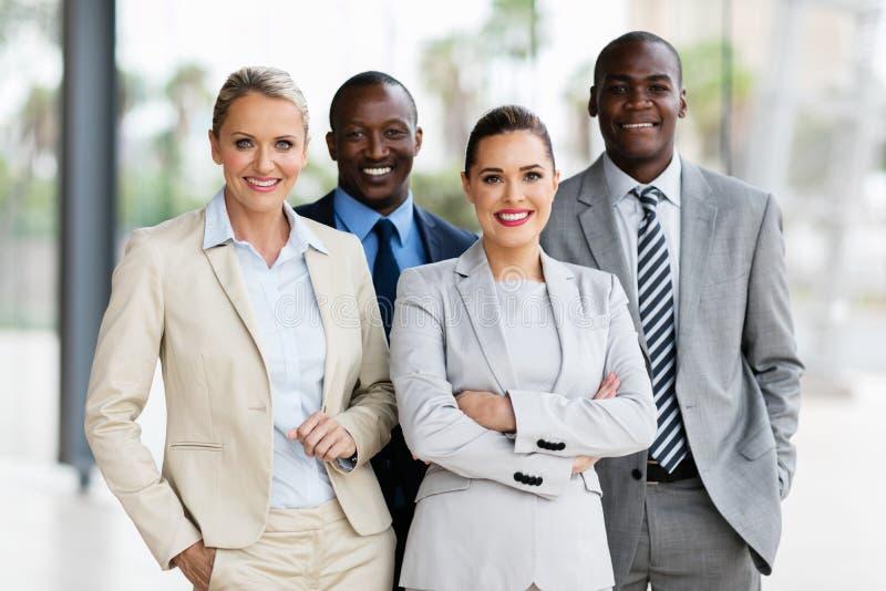 Multiracial biznes drużyny biuro obraz stock