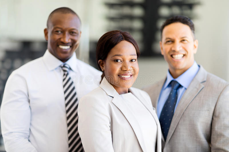 Multiracial business team. Group of successful multiracial business team royalty free stock images