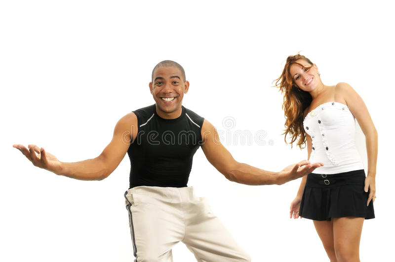 Download Multiracial Couple With Open Arms Stock Image - Image: 11471421