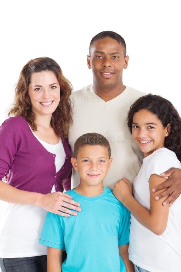 multiracial familj arkivbild