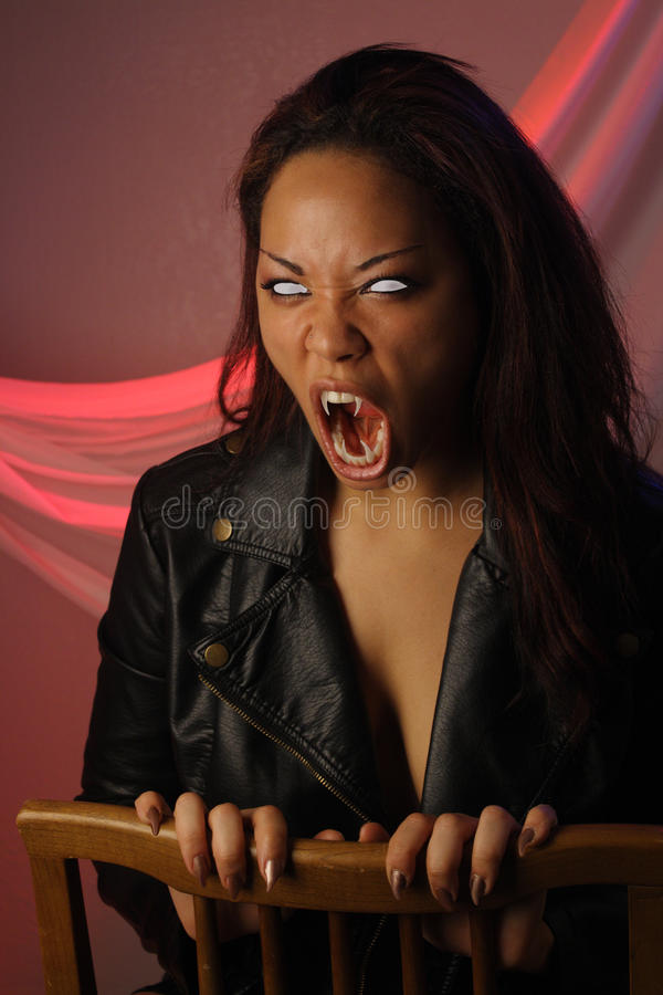 Multiracial Female Vampire (1) royalty free stock images