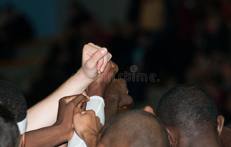 Download Multiracial Fist Raised At Sport Stock Photo - Image of sport, white: 24294838