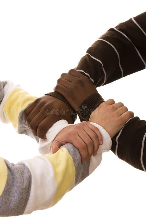 multiracial lag arkivfoto