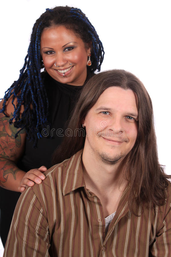 multiracial par fotografering för bildbyråer