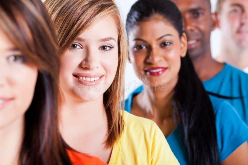 Multiracial people closeup stock photo