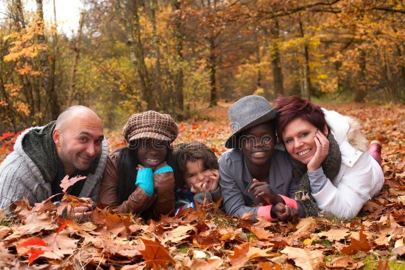 Multiracial rodzina zdjęcie royalty free