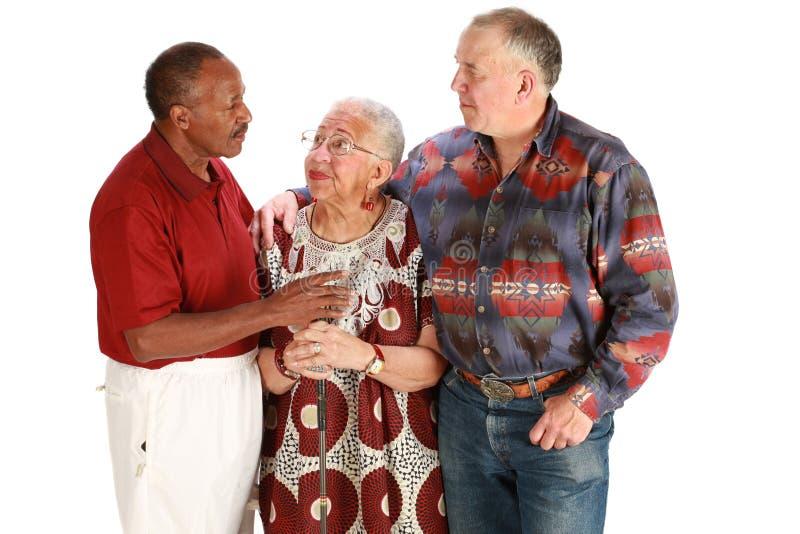 multiracial vänner arkivbild
