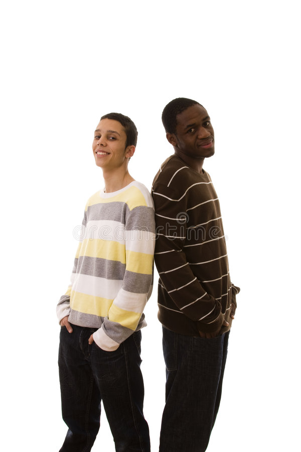 multiracial vänner royaltyfri foto