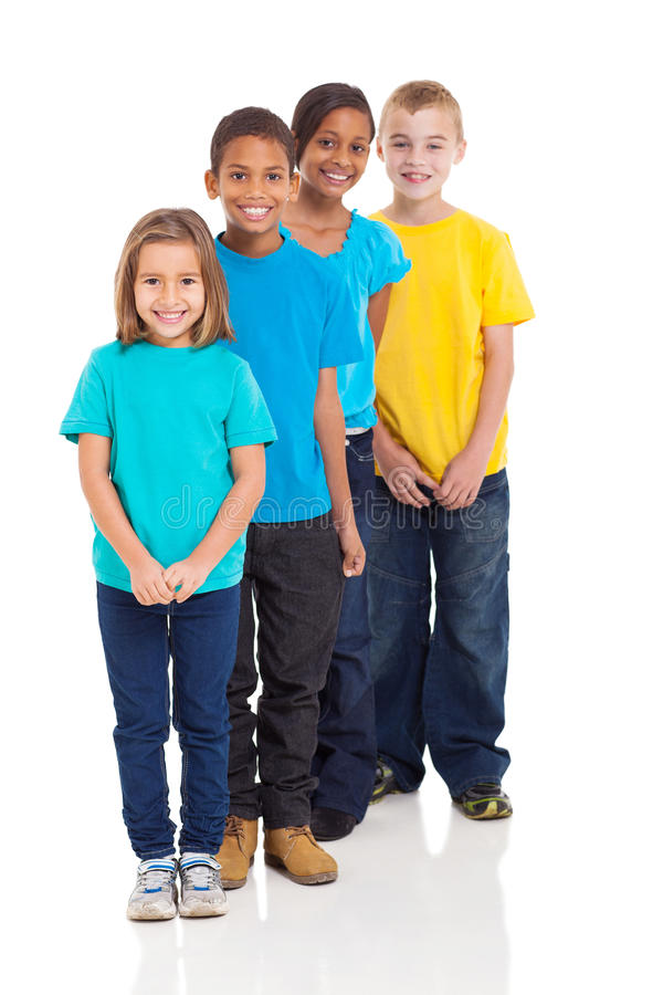 Multiracial young children stock images