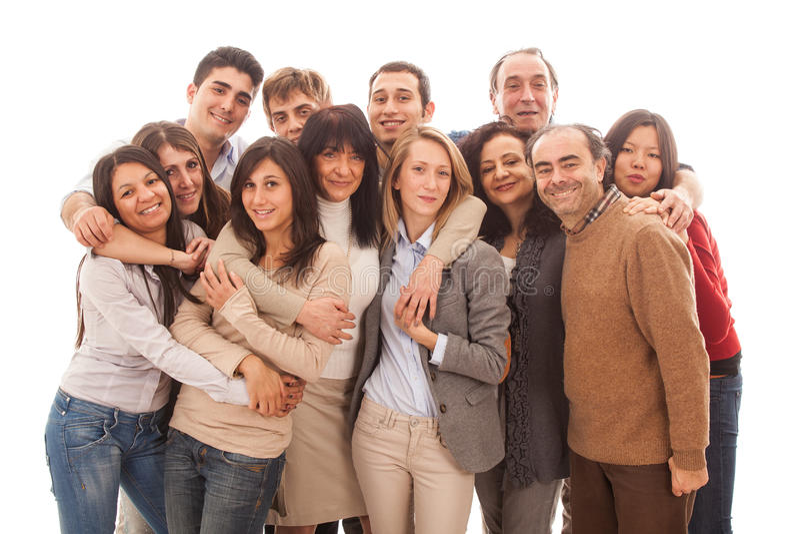 Multiraciale Groep royalty-vrije stock fotografie