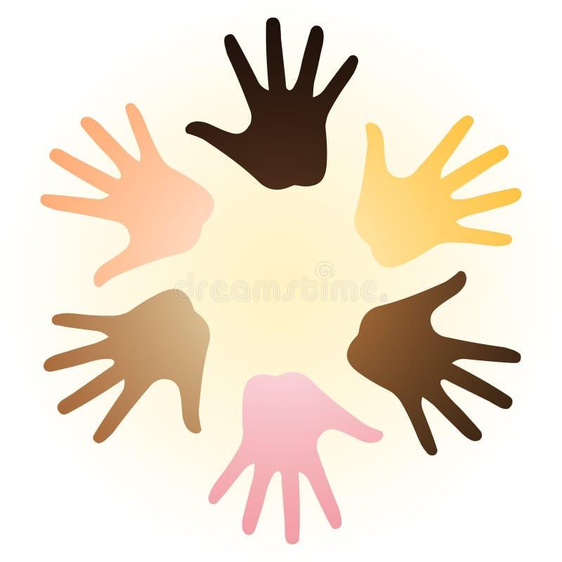 Multiraciale handen royalty-vrije illustratie